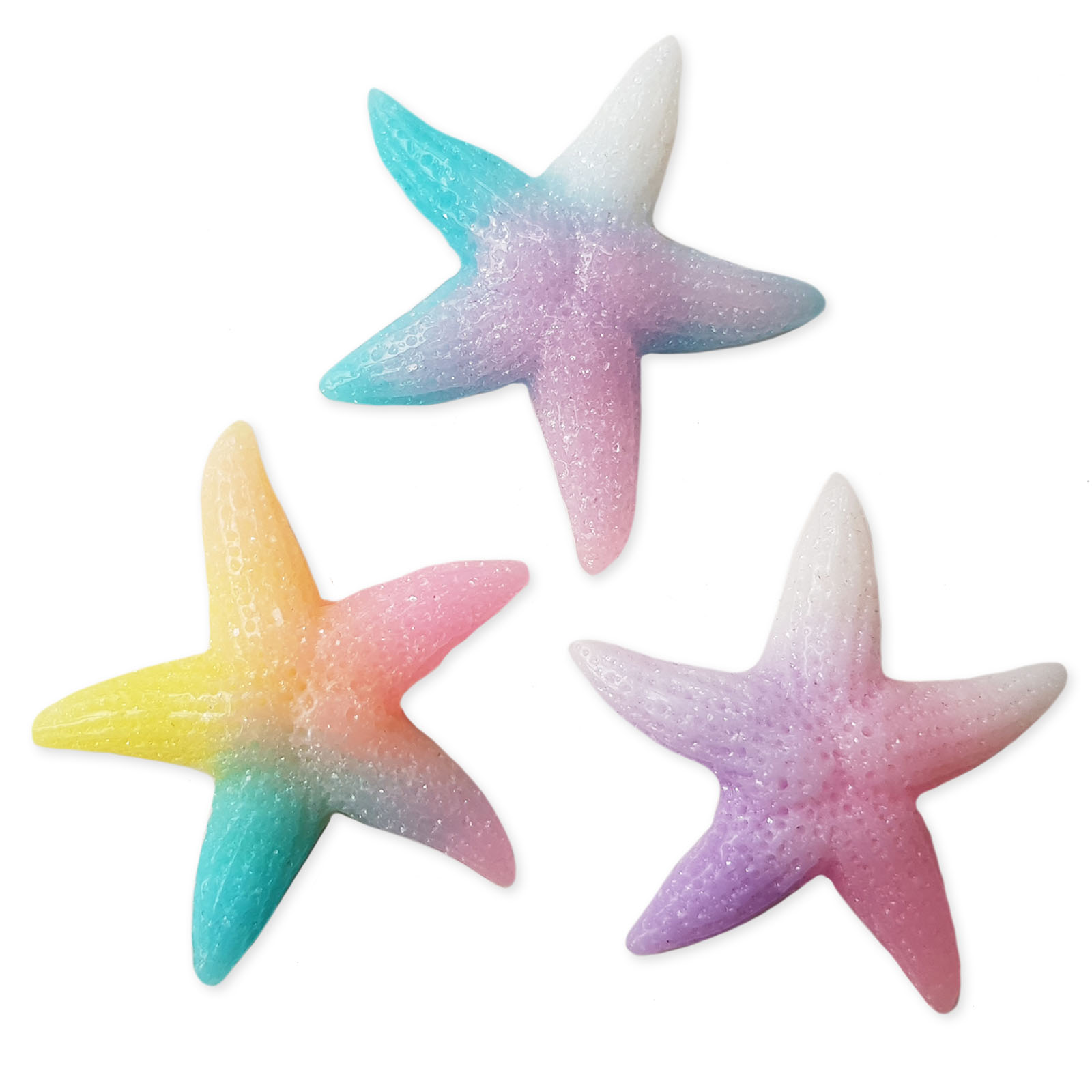 5pcs Large Resin Starfish Flatback Cabochons Embellishment Craft Charms