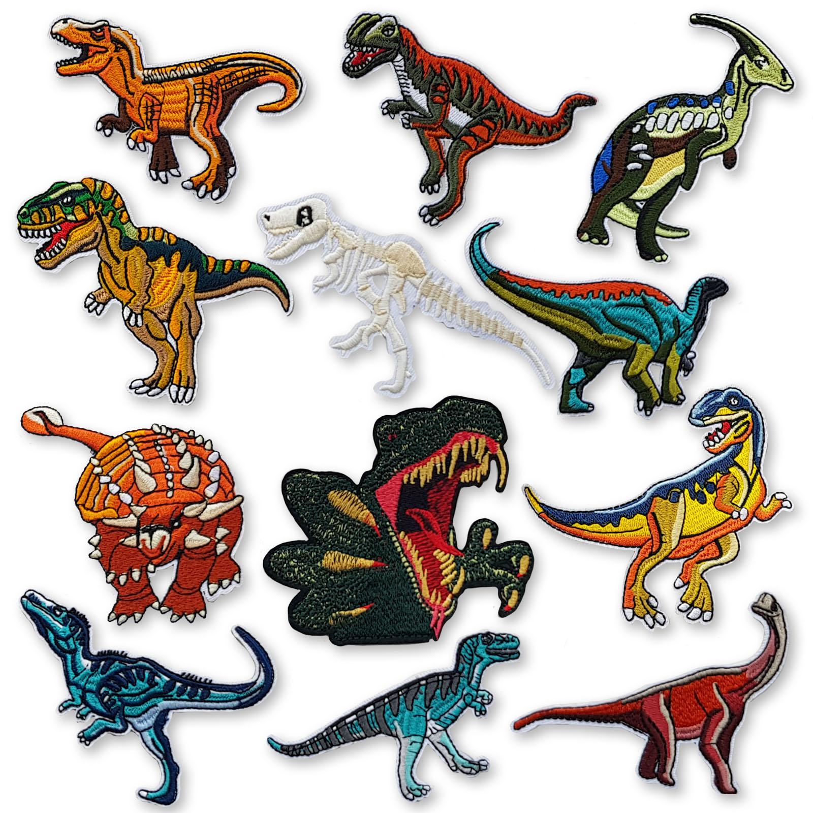 Jurassic Dinosaur Embroidered Patch NEW UNUSED