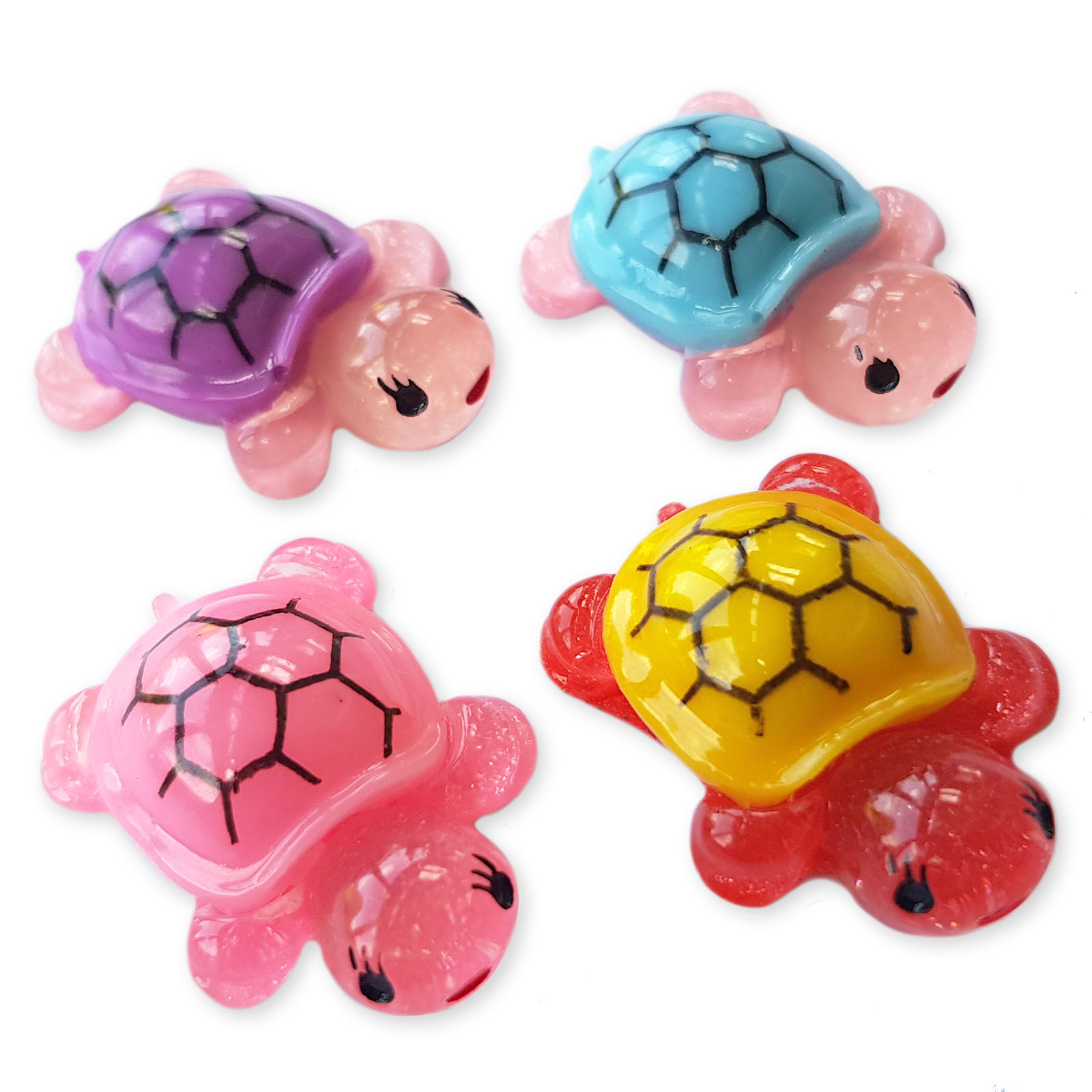 4pcs Cute Chicks Resin Kawaii Flatback Cabochons Embellishment Decoden Craft