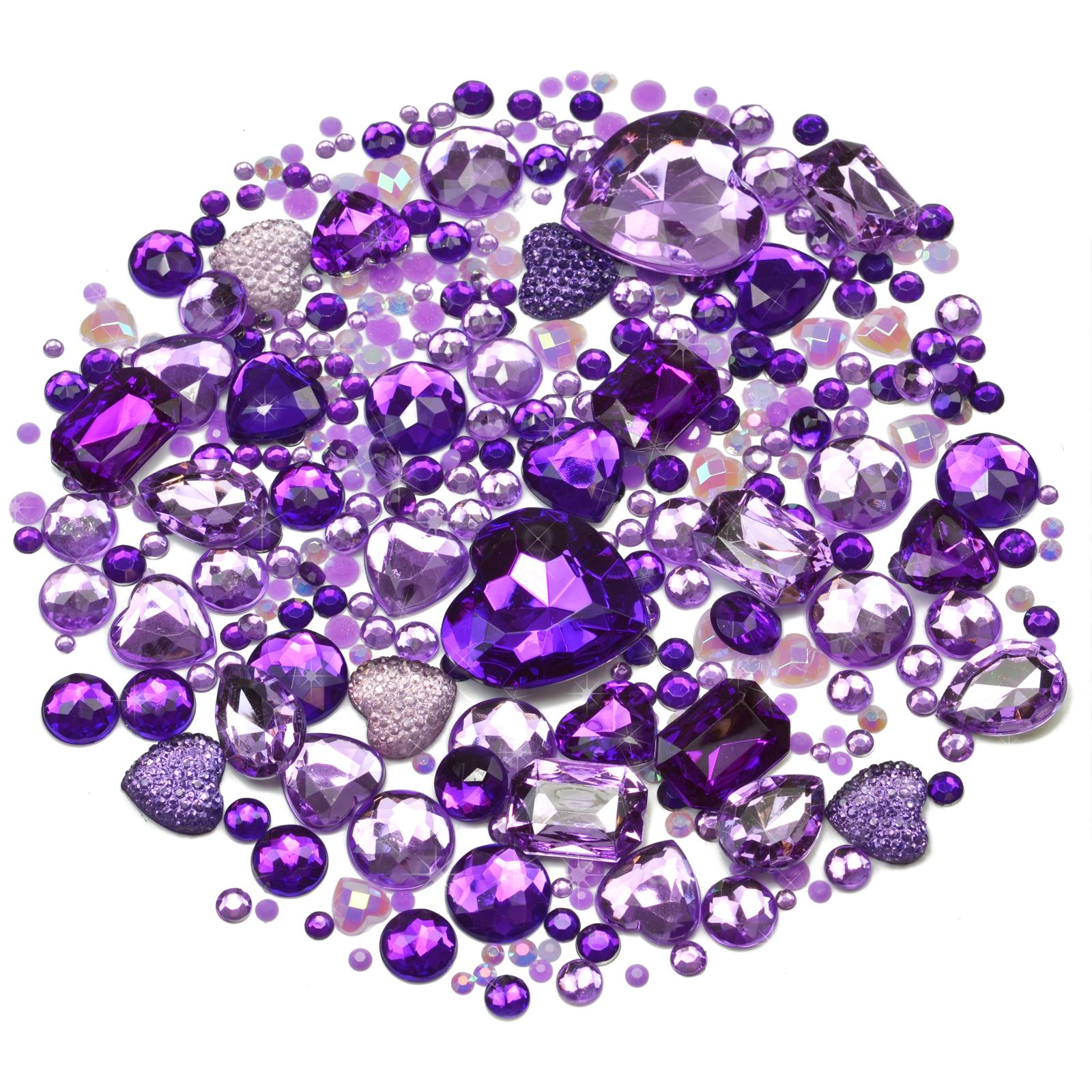 ICE Mix//Set of Gems Rhinestones Diamantes Crystal Embellishments Craft Decoden